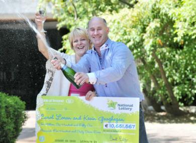 Carol Loran and Kevin Geoghegan who won €10.5 million back in 2013.