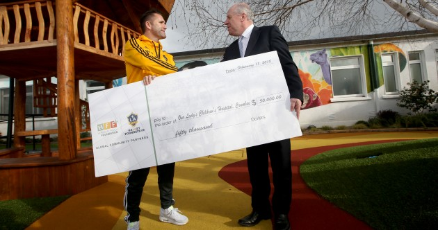 Robbie Keane and the LA Galaxy have made a generous donation to Our Lady's Children's Hospital