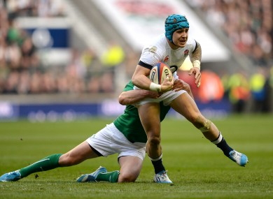 Jack Nowell in action during England's win over Ireland last year.