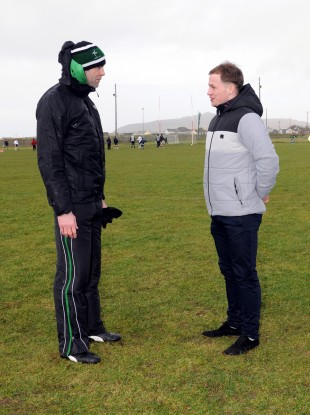 Dermot Earley and Pádraig Ó Sé before Sunday's game.