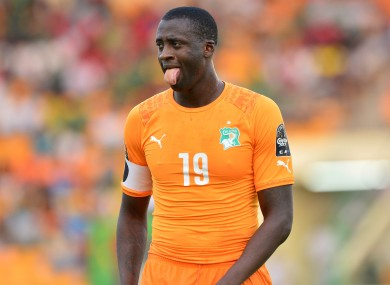 Yaya Toure of Ivory Coast and ,Man City made the AFCON team of the tournament.