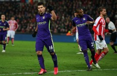 Sergio Aguero's double inspires Manchester City to eye-catching win over Stoke
