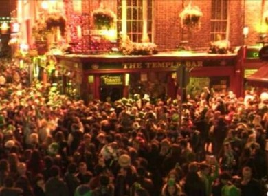 Temple Bar during last year's festivities.