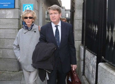 Brian O Donnell with his Mary Patricia leaving the four Courts in Dublin this afternoon.