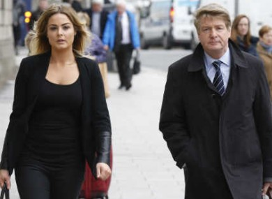 Brian O'Donnell arriving at the High Courts with his daughter Blaise today.