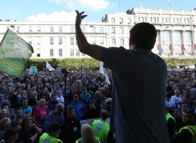 Last October's Right2Water protest, on O'Connell Street.