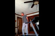 Watch this dad perform a flawless treadmill dance routine to Moves Like Jagger