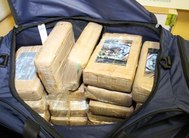 The cocaine seized at Cork Port