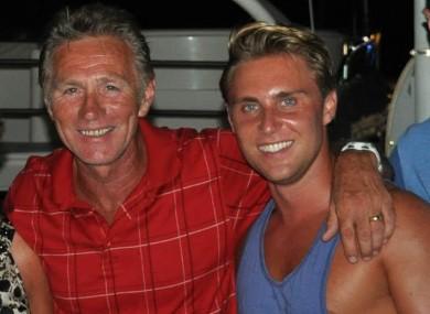 Eamonn Coghlan with his son Michael.