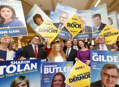 Lots of Fine Gael candidates ahead of the local elections last year