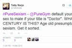 A gym assumed a woman was a man because she was a doctor and it�s causing a storm