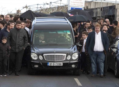 Barney McGinley's funeral, on 16 February.