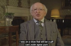 YouTube absolutely mangled the subtitles on Michael D. Higgins' Paddy's Day address