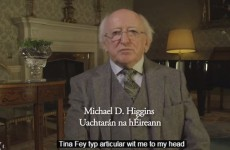 YouTube totally mangled the subtitles on Michael D. Higgins' Paddy's Day address