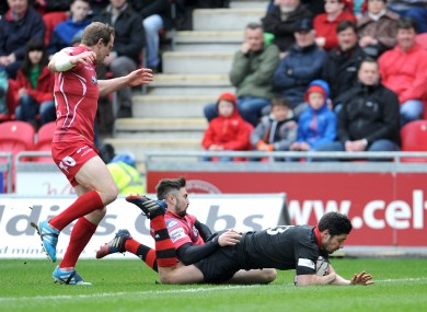 Phil Burleigh scored the opening try of the game for Edinburgh.