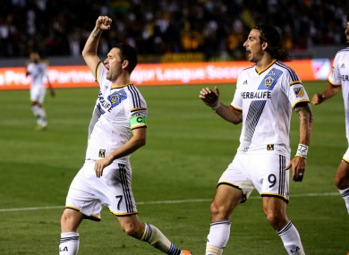 LA Galaxy captain Robbie Keane was on target at the weekend.