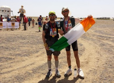 Dunne (left) pictured with fellow Irish participant Karl Mannion.