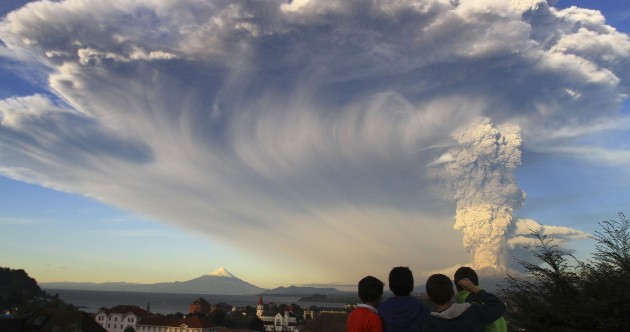 Chile volcano erupts for first time in decades