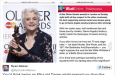 The Daily Mail made harsh comments about Angela Lansbury's appearance and nobody's happy