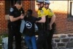 Screengrab from footage of police arresting Freddie Gray on 12 April.