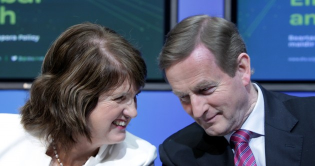 Enda and Joan look beyond water … to getting your vote
