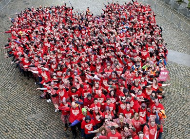 The USI set a new world record for the largest ever human love heart with 540 people.
