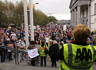 LImerick anti-water-charge protest.