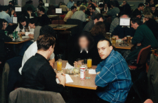 Pictured: Mark Nash – and the jacket that helped convict him – hours before brutal murders