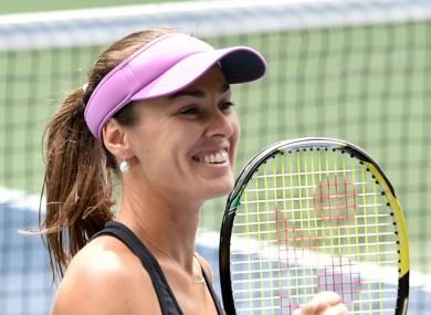 Swiss tennis player Martina Hingis