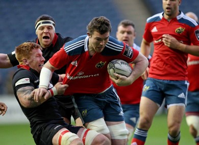Peter O'Mahony carried well for Munster throughout.