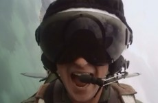 Video shows Prince Harry having a laugh flying upside down and twirling in the sky
