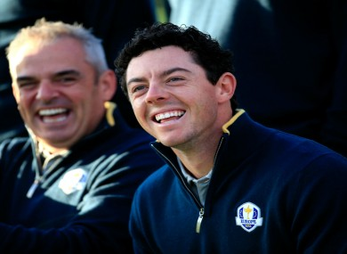 Rory McIlroy and Paul McGinley.