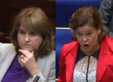 Joan Burton and Mary Lou McDonald