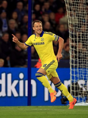 John Terry celebrates giving Chelsea the lead.