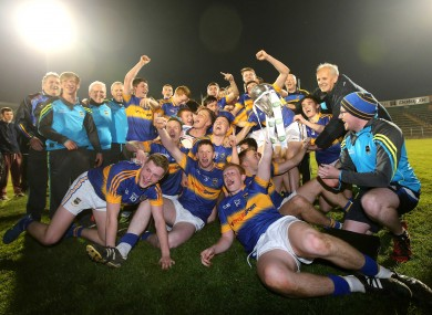 Tipperary celebrate after winning the Munster final.