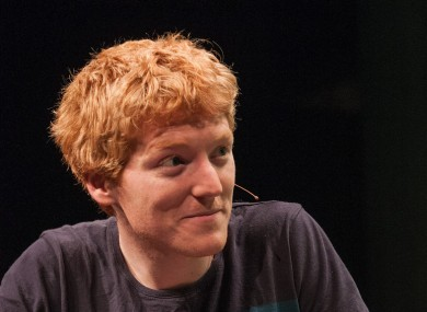 Patrick Collison, speaking at TechCrunch Disrupt Europe in 2013.