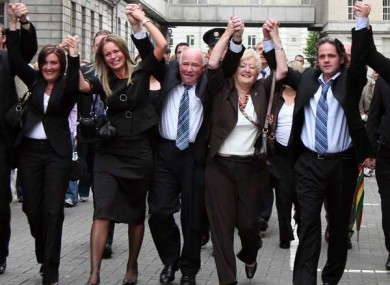 FILE PHOTO: Family of Rachel O Reilly celebrating guilty verdict handed down to Joe O'Reilly.