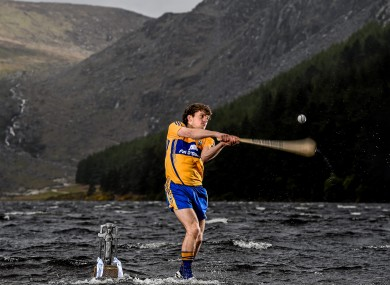Shane O'Donnell at yesterday's Bord Gáis Energy All-Ireland U21 hurling launch in Glendalough.