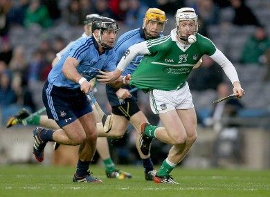Cian Lynch in action for Limerick against Dublin in the league in March.