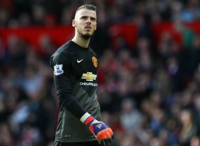De Gea has impressed for United this season.