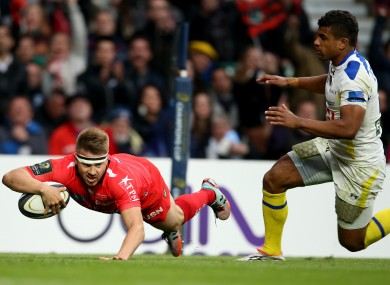 Drew Mitchell scored a decisive second half try for Toulon.
