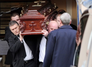 Scenes from the funeral of Eamon Kelly.