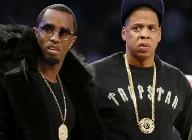 Jay Z and fellow music mogul Sean