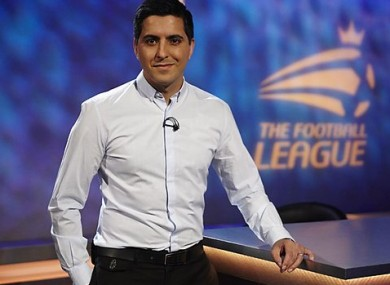 Manish: anchored the Football League Show for six years.