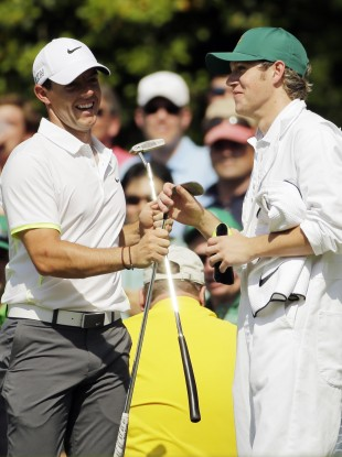 Horan, right, caddied for McIlroy at Augusta last month.