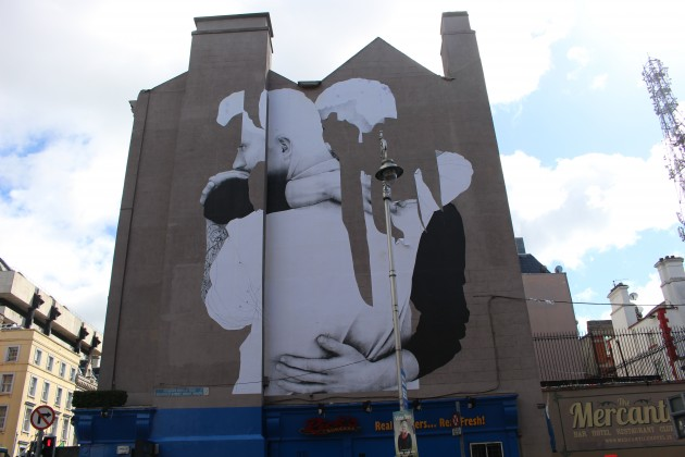 Pictures the new lesbian mural placed on the side of a for Dublin gay mural