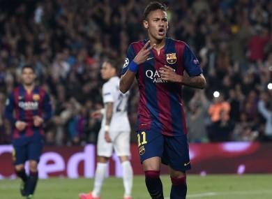 Barcelona striker Neymar.