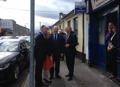 Enda Kenny canvassing in Carlow yesterday with Justice Minister Frances Fitzgerald.