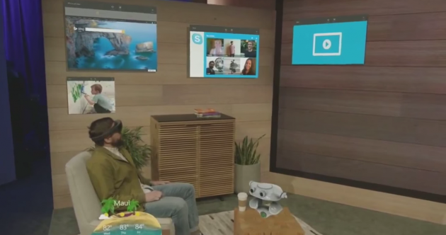 This is what your living room would look like while wearing Microsoft's HoloLens