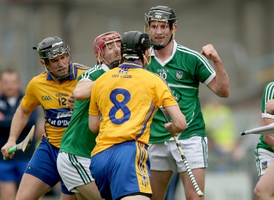 Clare's Patrick Donnellan was red-carded.